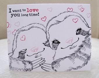 Love & Valentine Sloth Greeting Card