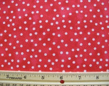 Fat Quarter Red Hat Ladies Fabric Coordinating Fabric White Polka Dots on Red - Faye Burgos for Marcus Brothers - OOP