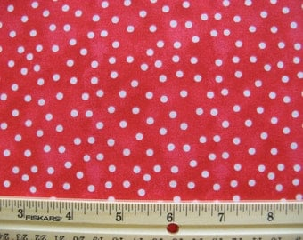 Fat Quarter White Polka Dots on Red Red Hat Fabric - Faye Burgos for Marcus Brothers - OOP
