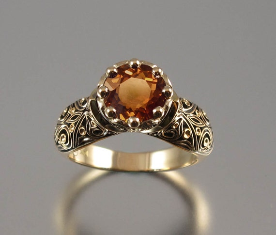 The ENCHANTED PRINCESS 14k gold ring with Tourmaline RESERVED for R. - 1st payment