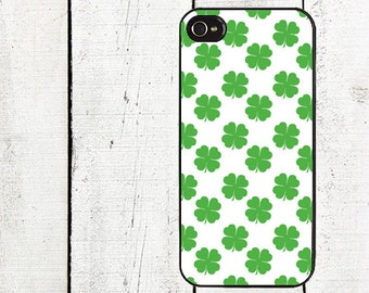 Four Leaf Clover Phone Case St. Patrick's Day for iPhone 4 4s 5 5s 5c SE 6 6s 7  6 6s 7 Plus Galaxy s4 s5 s6 s7 Edge