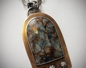 Bronze Sterling Gemstone Pendant