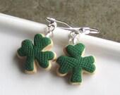 St. Patrick Day Shamrock Cookie Earrings