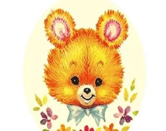 Vintage Baby Bear Cross Stitch Pattern PDF