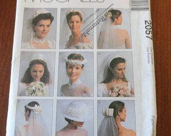 McCalls 2057 Bridal Veils and Hat Pattern UNCUT