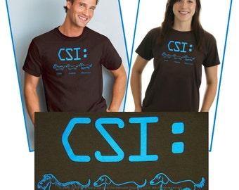 Dachshund CSI T-Shirt Sizes