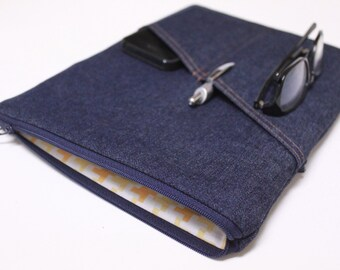 11 13 15 Inch MacBook Pro Mens MacBook Air Case Laptop Cover Yoga Pro Sleeve - Blue Denim