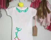 Pinocchio Fabric Silhouette Baby Onesie