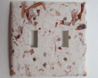 Decorative Onion Skin Light Switch Plates-Recycled Handmade Paper