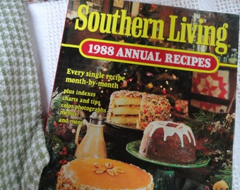 1980s Annual Recipes, Seasonal Cooking, Southern Living Cookbook