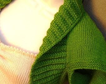 Green Apple Knit Shrug-Large  green kelly apple bolero shrug wrap sweater vest wedding bridal prom evening formal cover-up