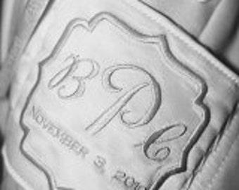 Wedding Dress Label Tag With Decorative Border