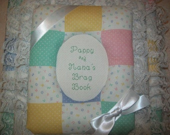 ABC BABY BLOCK Custom Handmade Fabric Album / Scrapbook
