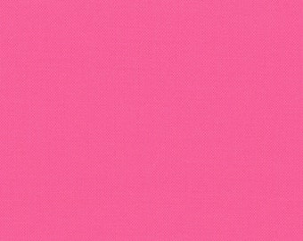 Fuschia Solid Cotton Fabric - Modern Quilting Sewing - Moda Fabrics Bella Solids Collection - cotton Fabric by the yard