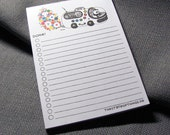 Panda Note Pad. To-Do List. 50 Pages. Postcard size.