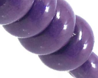 Deep Purple Spacers, 6 glass beads
