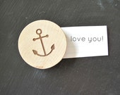 anchor wood magnet, magnets, nautical
