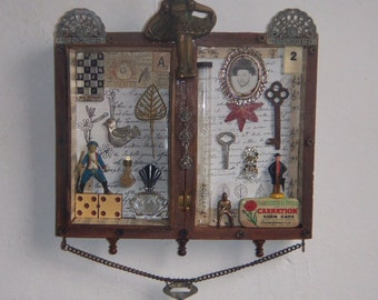 Assemblage Art - Recycle 3D Salvage -On top of the World -1060