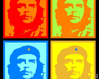 Latin icon Che Guevara pop art magnet