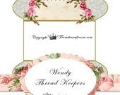 Instant digital download Wendy /Lace or thread Keepers