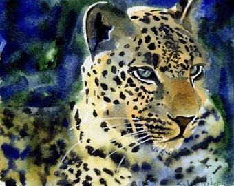Leopard Art Wildcat Art Safari Africa Wildlife Nature Art Print