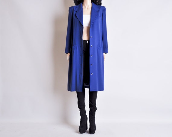 YVES SAINT LAURENT menswear blue coat / m / l