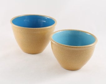 Nested Stoneware Bowls, Set of 2, Condiment Bowls, 50% Off