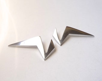 Glen Yank Aluminum Modernist Earrings 1980s