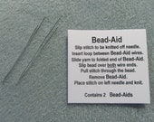 Bead Aid: A Friendly Tool to Quickly Add Beads to Knitting and Crochet.