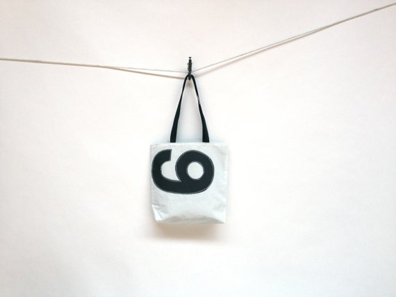Upcycled Sail Cloth Bag - Black Number 9 or 6