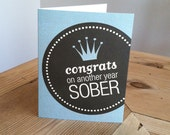 Greeting card - Congrats on another year sober
