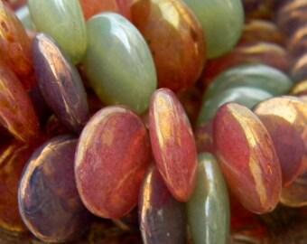 Opal Tarts (12) -Czech Glass Lentils 12mm