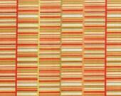 RESERVED - 3 yards Jenean Morrison Book Stripe in orange
