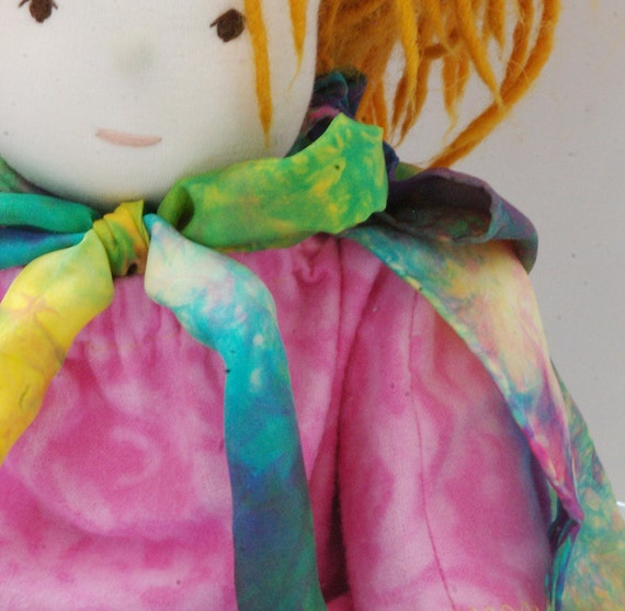 CRUSH :: Custom Hand Dyed Silk Cape for Your Little One's Favourite Crush ~ Dolly! (for dolls 12-20""