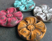 Bright Flower Pendants (4)