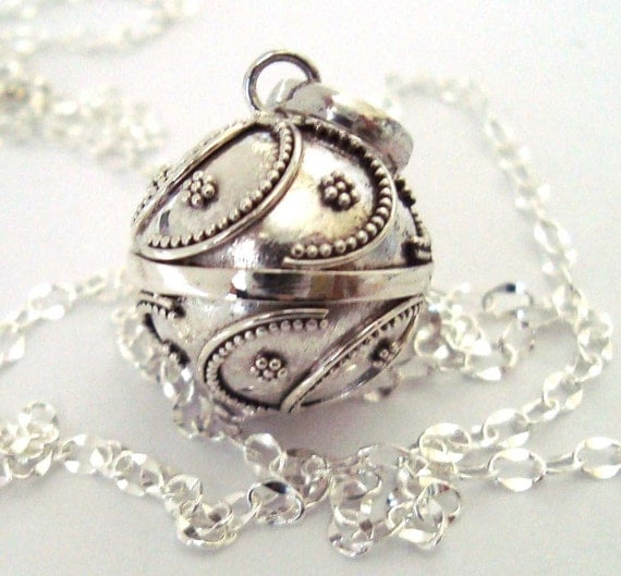 14mm Mexican Bola Sterling Silver Maternity Pregnancy Harmony