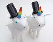 Unicorn Wedding Cake Toppers | Gay Wedding Cake Toppers | Custom Wedding Cake Toppers | Forest Cake Topper