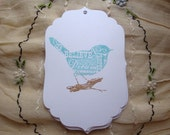 50 Happiness Bird Wedding Wish Tree Tags