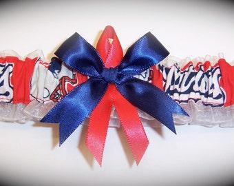 New England Patriots Wedding Garter  Handmade  Toss  Bridal nr1