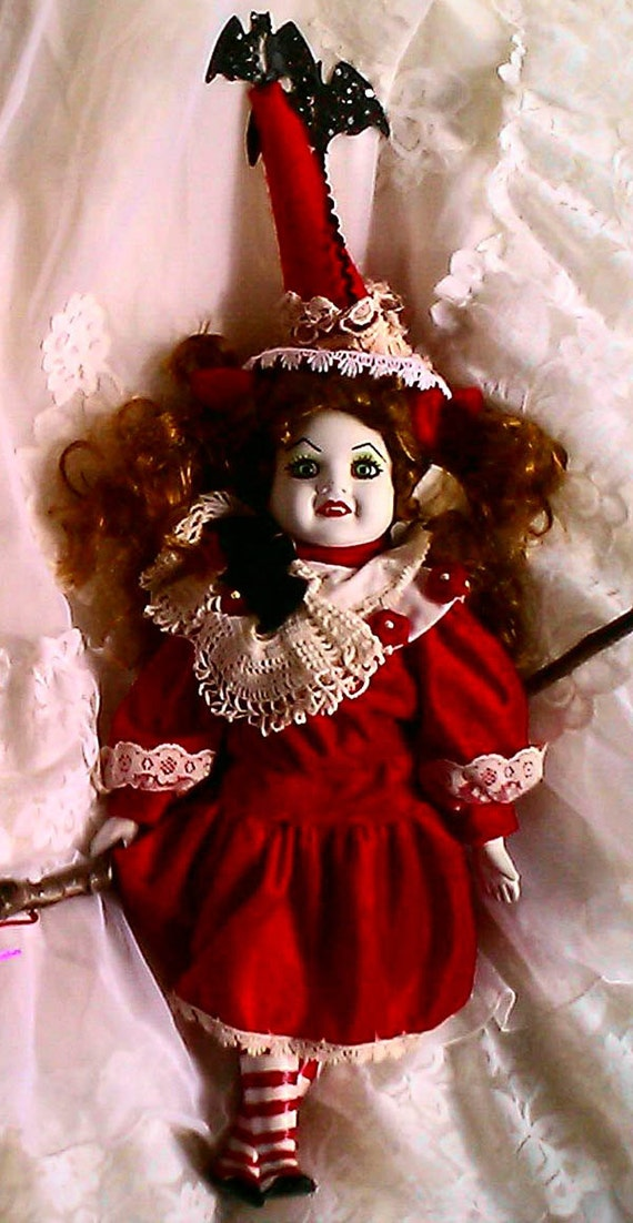 Dame Darcy Valentine Art Doll Batavia Battastic Gothic Lolita Witch Vampire