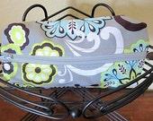 Make-up bag, cosmetic bag, clutch, Floral print make-up bag, Pencil case