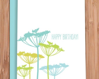 birthday card / queen anne's lace