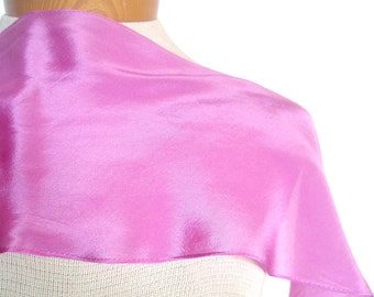 SALE - Take 50% off all VERA - Raspberry Silk - a vintage 1980's Vera Neumann Wing-Tip Pure Silk Scarf - Tout Soie