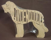 GoldenDoodle Designer Dog Puzzle Wooden Toy Hand Cut with Scroll Saw