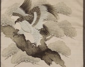 Small Size Cotton 'Hawk in the Pines' Furoshiki  Japanese Fabric w/Free Insured Shipping