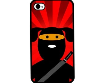 Phone Case - Ninja Dog - Hard Case for iPhone 4, 4s, 5, 5s, 5c, SE, 6, 6 Plus, 7, 7 Plus - iPod Touch 4, 5/6 - Galaxy