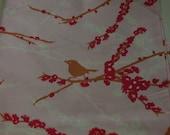 Joel Dewberry Aviary Sparrow Pink Fabric  1 Yard
