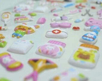 Cute Puffy Japanese Sticker - Little Animal Clinic (1232)