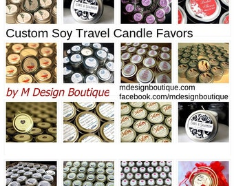 Wedding Gift Favor Candles