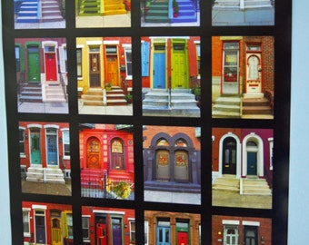 Colorful Doors Architecture of the City Philadelphia Fairmount Art Museum Poster 18 x 24